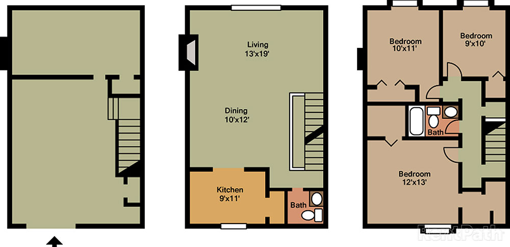 hickory hills apartments & townhomes - floor plans